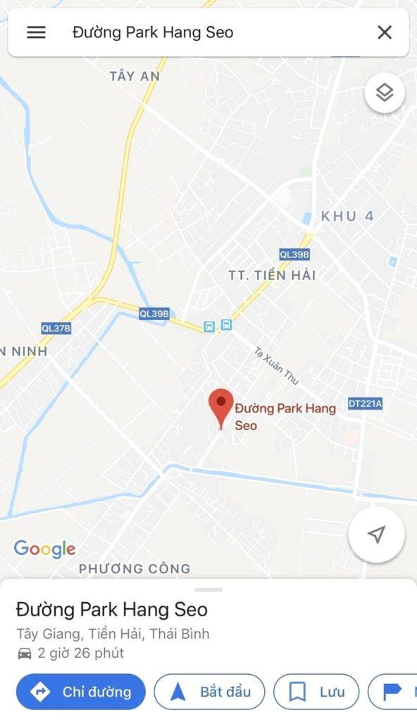 đường Park Hang Seo