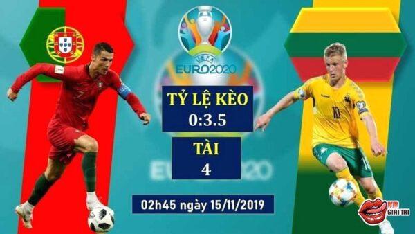 Soi kèo bóng đá đêm nay – Bồ Đào Nha và Lithuania (Vòng loại Euro 2020)