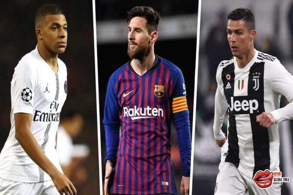Bảng xếp hạng cầu thủ bóng đá thế giới – Ronaldo mất hút