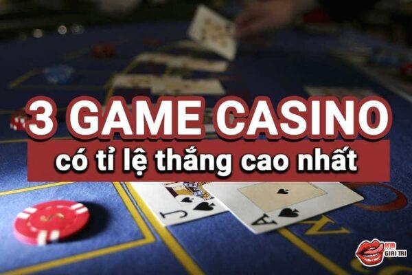 Top 3 game casino online