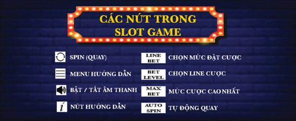 Các nút trong slot game