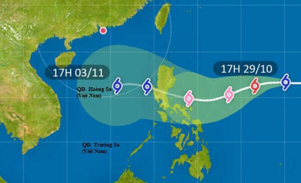 Bão số 10 - Bão Goni di chuyển nhanh khi vào Biển Đông