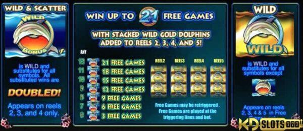 Dolphin Gold slot game tỉ lệ thắng cao tại KDSlots