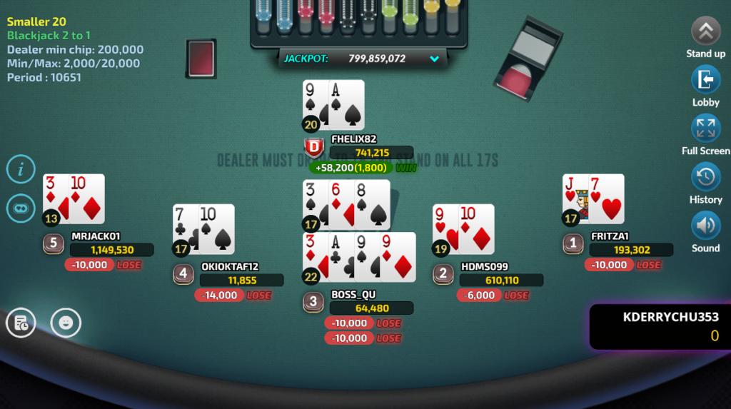 cách chơi game blackjack