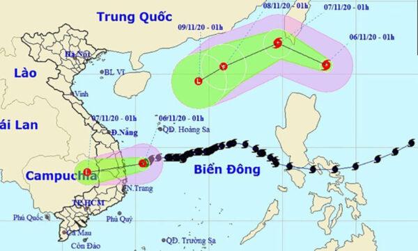 Bão số 10 - Atsani vừa suy yếu, sức gió cấp 12 đã áp sát Biển Đông