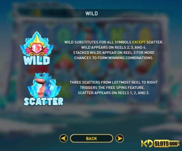 Frost Dragon Slot Game , sức mạnh của Rồng Băng Giá trong KDSlots