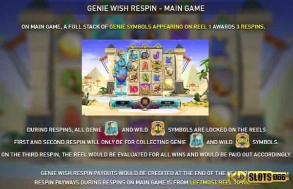 Trở thành chủ nhân của thần đền trong game slots Genie's Luck