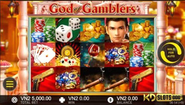 Thần bài đã đến với game slot God Of Gamblers