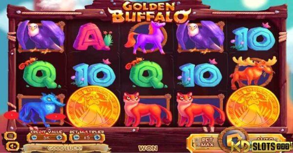 Game slot Golden Buffalo – Quay là trúng tại KDSlots