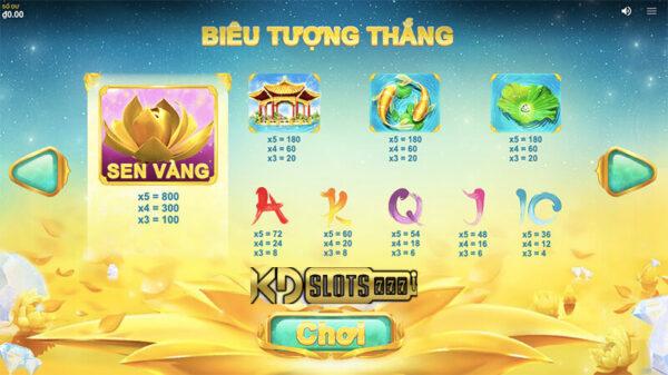 Game slot Golden Lotus thiếu nữ bên tòa sen vàng!!!