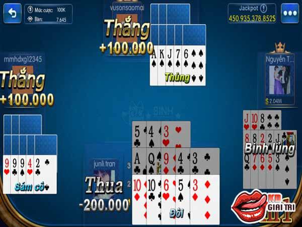 Luật chơi phân định thắng thua trong game bài mậu bình - capsa susun