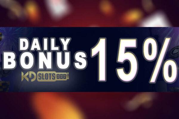 thưởng 15% bonus