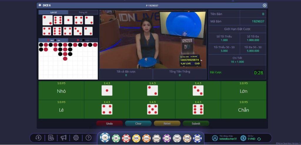 Hướng dẫn cách chơi game Dice 6 tại casino trực tuyến KDSlots