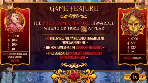 Rose of Venice Game Slot – Chiêm ngưỡng bóng hồng Venice