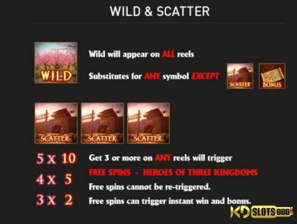 Biểu tượng đặc biệt trong game slot Three Kingdoms