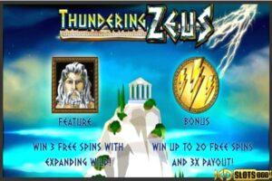 Thundering Zeus – Chơi slot game tại nhà cái KDSlots