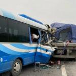 Tai nạn giao thông giữa xe tải và xe khách