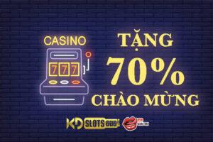 Khuyến mãi chào mừng game slot - nổ hũ tặng 70% tiền nạp