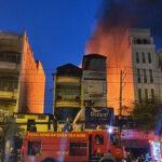 Cháy lớn tiệm sơn trên đường Lý Thường Kiệt, Q.Tân Bình