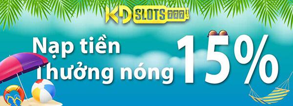 Bạn đã biết tin nóng hổi gì chưa? Vào Casino trực tuyến KDSlots game slot thưởng ngay 15% khi nạp tiền nè. Tay chơi nào thích chơi slot - nổ hũ bơi vào đây xem khuyến mãi hot này nhé! Hãy cùng KDgiaitri liên tục cập nhật các khuyến mãi to bự từ nhà cái này nha.