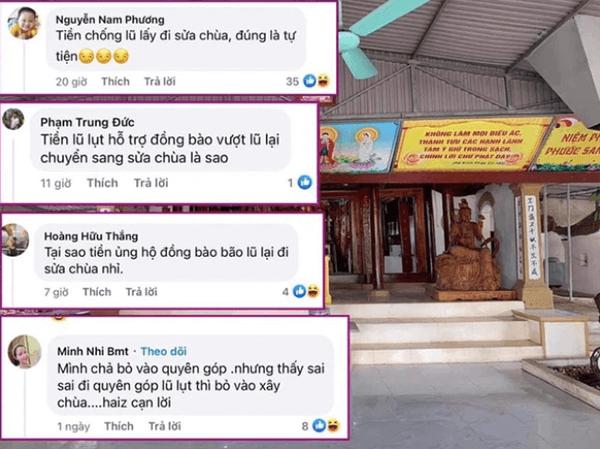 Đàm Vĩnh Hưng dùng tiền từ thiện lũ lụt xây chùa