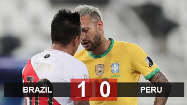 Kết quả bóng đá Brazil vs Peru